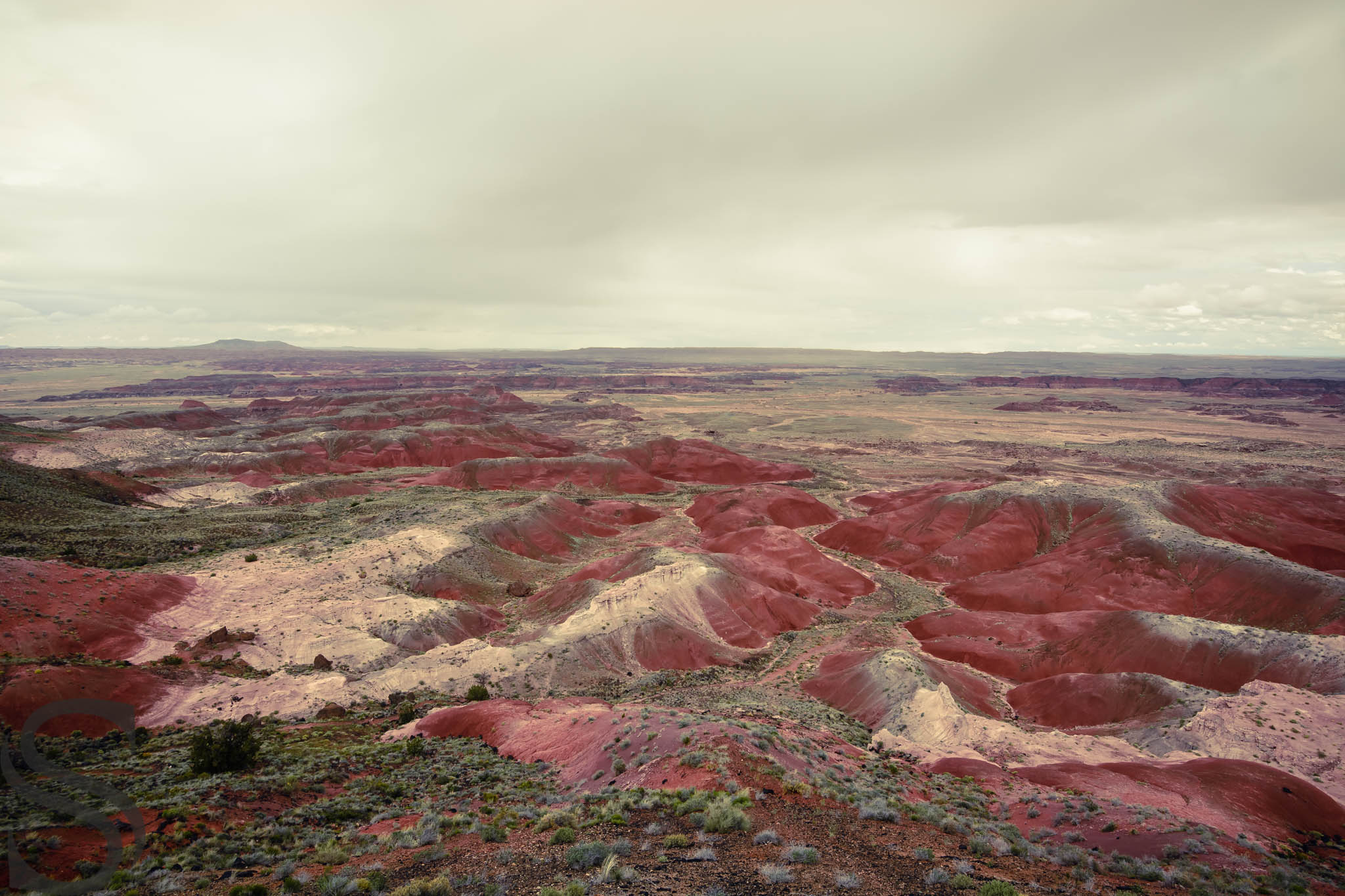 Badlands of Painted Desert as seen from Kachina Point