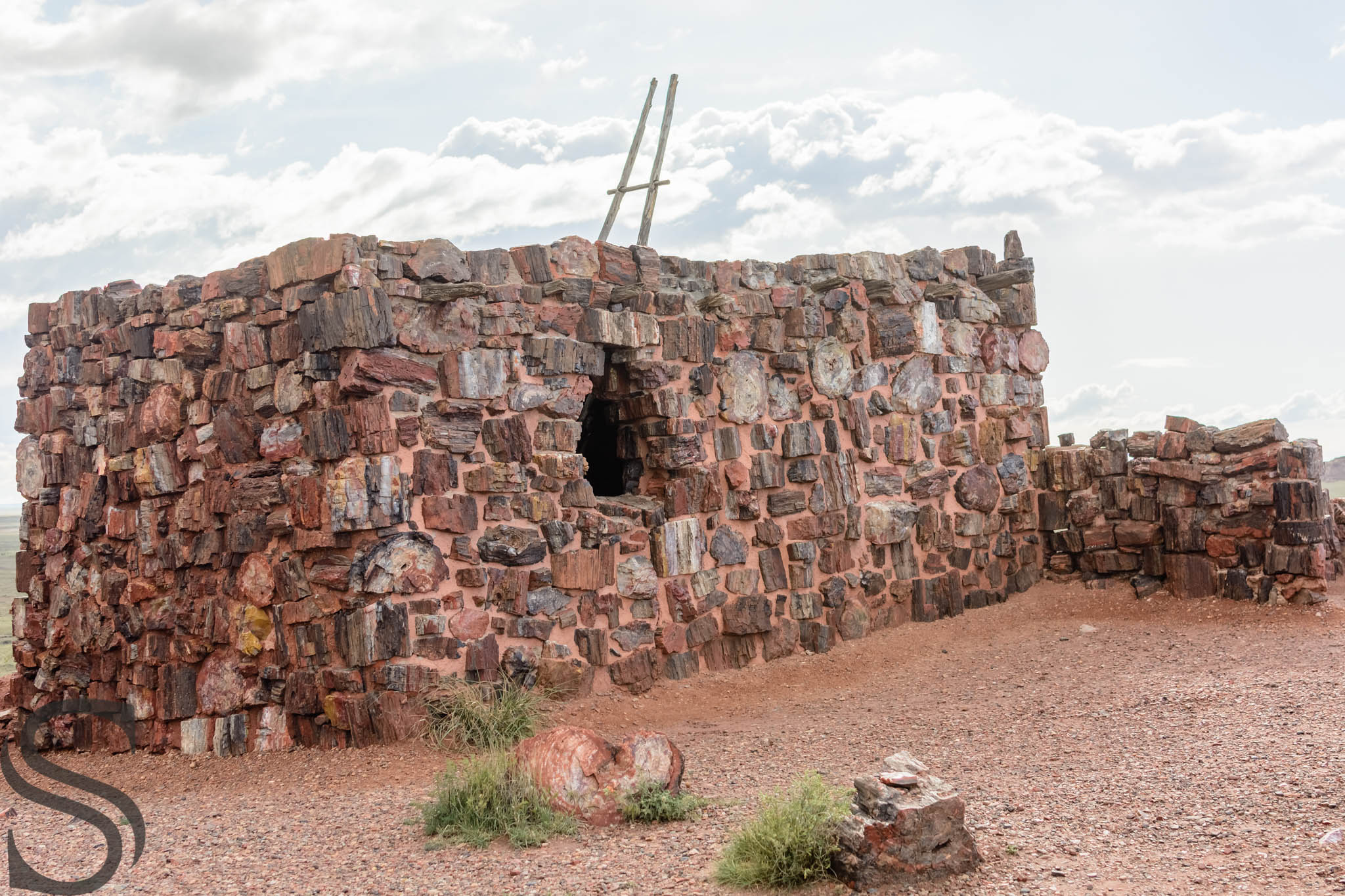 Agate House - Indian Pueblo, reconstructed in 1934.