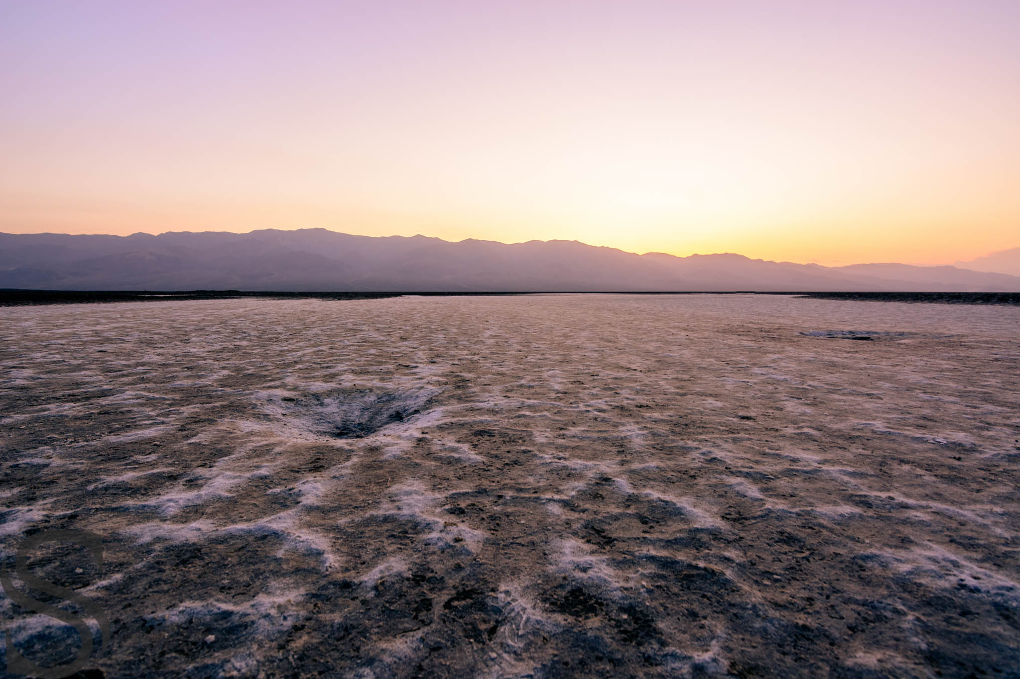 Accumulated Salt Flats at Badwater Basin